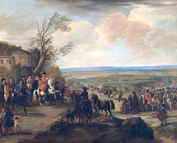 Duke of Marlborough at the Battle of Oudenarde 30th June 1708 in the War of the Spanish Succession: picture by John Wootton