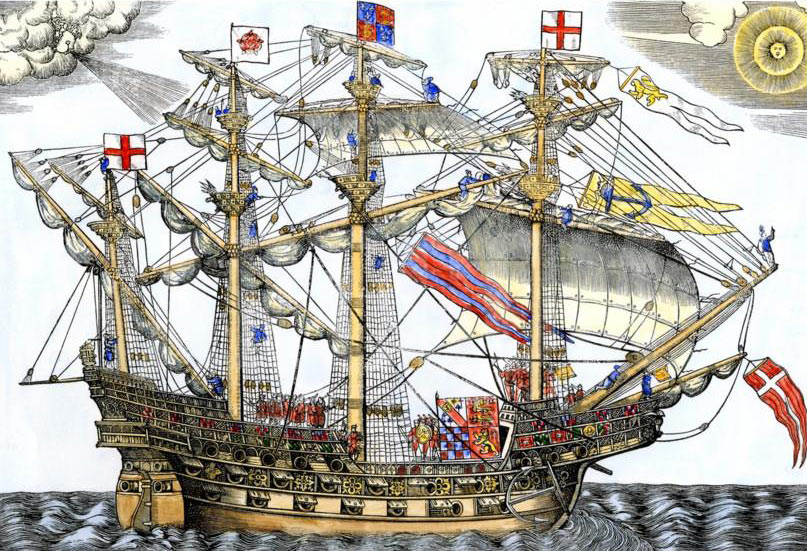 Ark Royal the English Flag Ship: Spanish Armada June to September 1588: click here to buy this picture