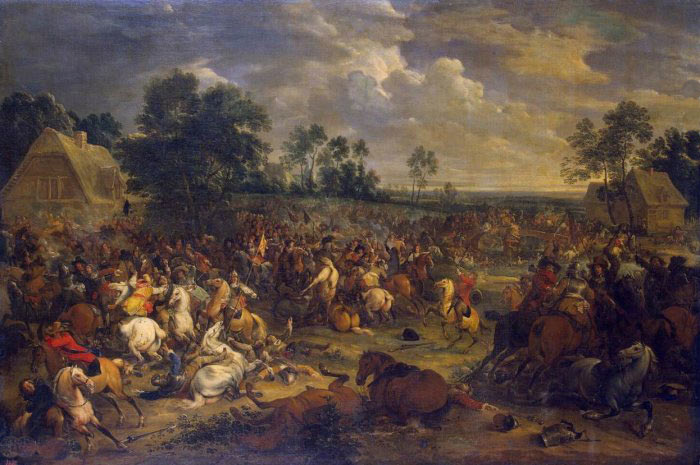 Battle of Oudenarde 30th June 1708 in the War of the Spanish Succession: picture by van der Meulen