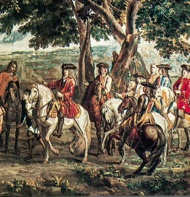 Duke of Marlborough at the Battle of Blenheim 2nd August 1704 in the War of the Spanish Succession: Blenheim Palace Tapestry: click here to buy this picture