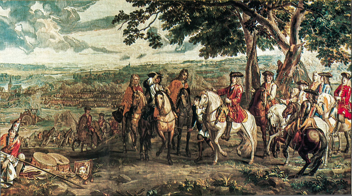 Surrender of Marshal Tallard at the Battle of Blenheim 2nd August 1704 in the War of the Spanish Succession: Blenheim Palace Tapestry