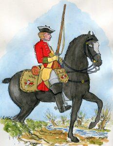 13th Dragoons: Battle of Prestonpans on 21st September 1745 in the Jacobite Rebellion