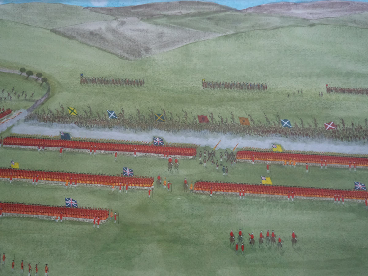 The Highland Attack: Battle of Culloden 16th April 1746 in the Jacobite Rebellion: picture by John Mackenzie