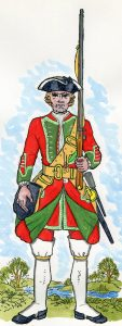 36th Regiment of Foot: Battle of Culloden 16th April 1746 in the Jacobite Rebellion: Mackenzie from Representation of Cloathing