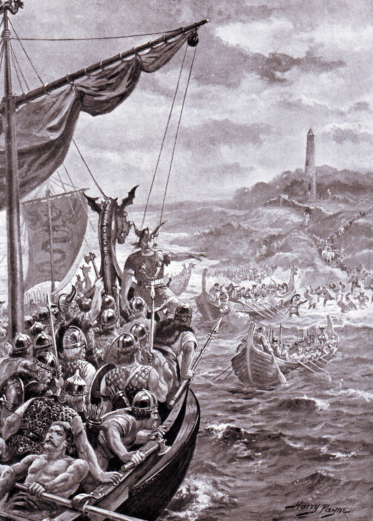 Vikings landing in Britain