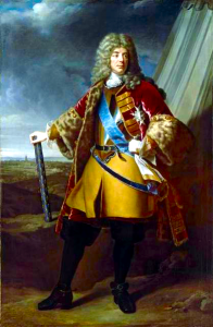 Duc de Villeroy: Battle of Ramillies 12th May 1706 in the War of the Spanish Succession: picture by Alexandre-François Caminade