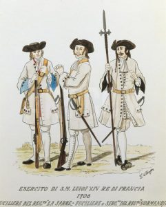 French regiments of 1706: Battle of Ramillies 12th May 1706 in the War of the Spanish Succession: click here to buy this picture