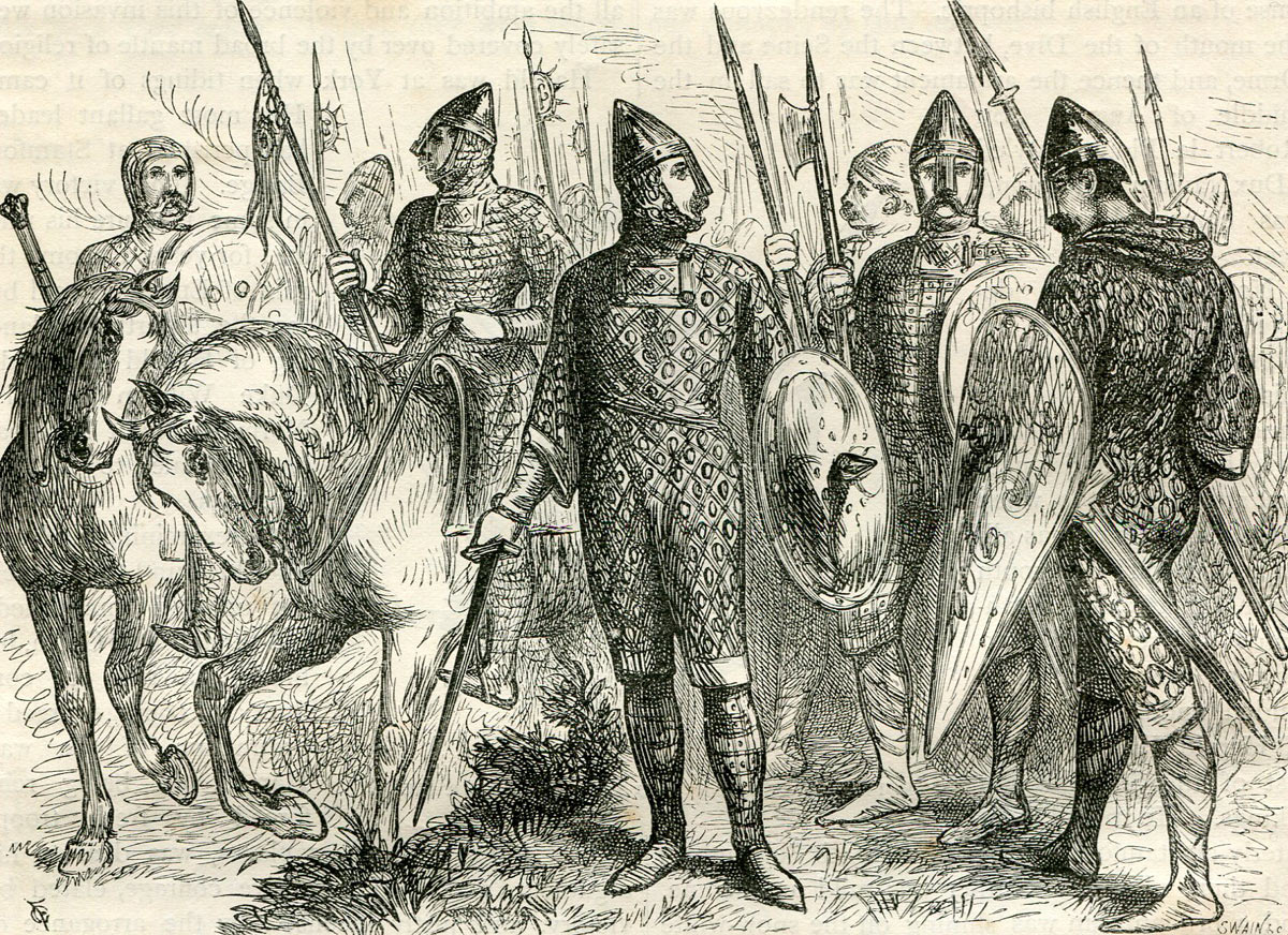 Norman soldiers: Battle of Hastings on 14th October 1066