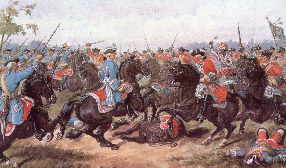King's Carabiniers at the Battle of Malplaquet 11th September 1709 War of the Spanish Succession