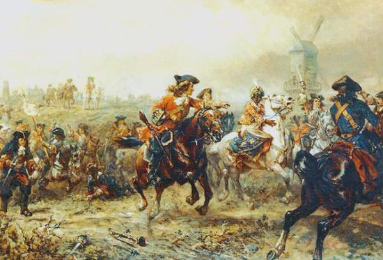 King's Horse at the Battle of Ramillies 12th May 1706 in the War of the Spanish Succession