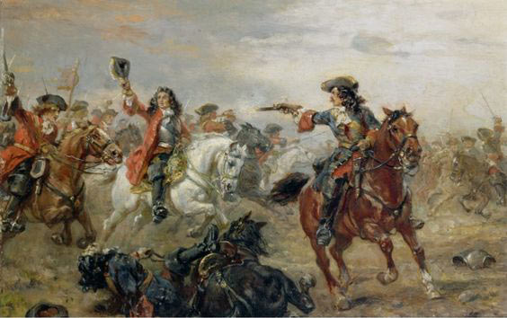 Battle of Oudenarde 30th June 1708 War of the Spanish Succession: picture by Hillingford