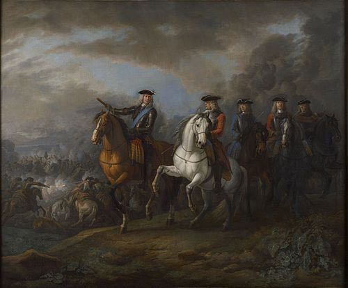 Duke of Marlborough and the Earl of Cadogan at the Battle of Blenheim 2nd August 1704 in the War of the Spanish Succession: picture by Pieter van Bloemen