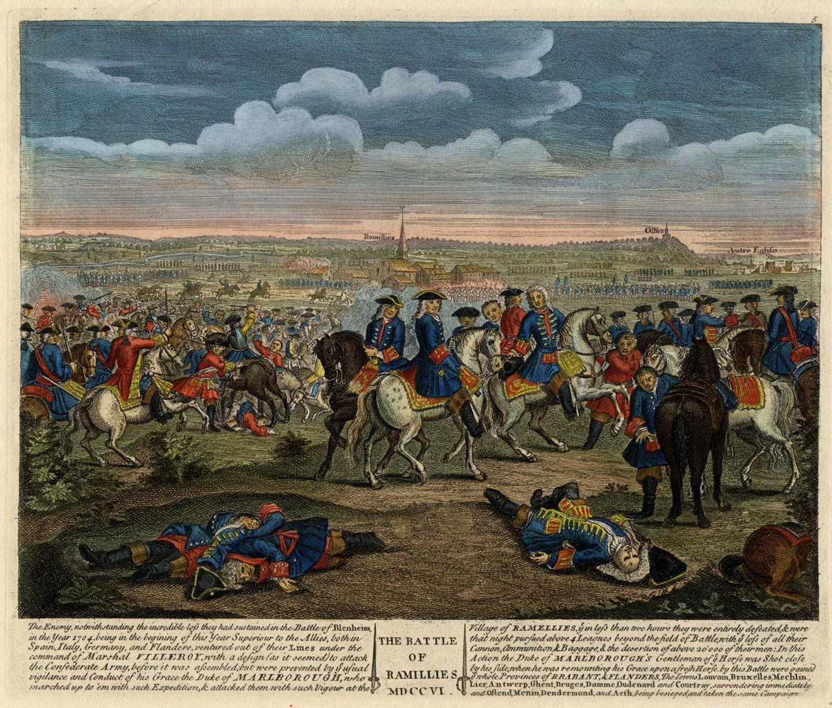 Battle of Ramillies 12th May 1706 in the War of the Spanish Succession: click here to buy this picture
