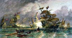 Battle off Gravelines: Spanish Armada June to September 1588: click here to buy this picture