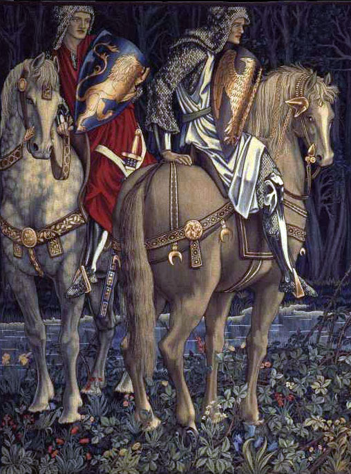 Knights of the period of the Battle of Bannockburn Knights of the period of the Battle of Bannockburn: picture by Edward Burne-Jones : picture by Edward Burne-Jones: click here to buy this picture