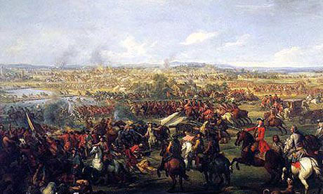 Battle of Blenheim 2nd August 1704 in the War of the Spanish Succession: click here to buy this picture