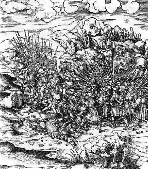 Battle of Flodden 9th September 1513: a contemporary engraving