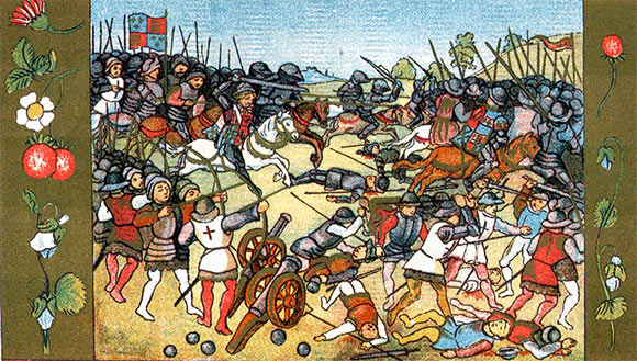 Tapestry of the Battle of Flodden on 9th September 1513