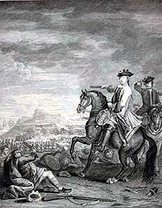 Duke of Cumberland at Battle of Culloden 16th April 1746 in the Jacobite Rebellion