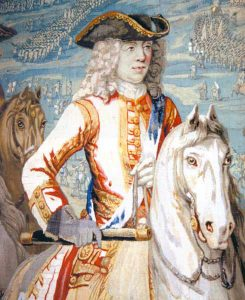 Duke of Marlborough at the Battle of Oudenarde 30th June 1708 War of the Spanish Succession: Blenheim Palace Tapestry