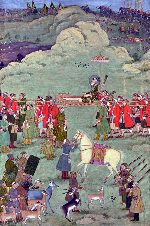 Emperor Aurangzeb accompanied by Indian troops: Battle of Kavripauk on 23rd February 1752 in the Anglo-French Wars in India (Second Carnatic War)