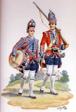 Grenadier and Drummer Barrell's King's Own Royal Regiment: Battle of Culloden 16th April 1746 in the Jacobite Rebellion