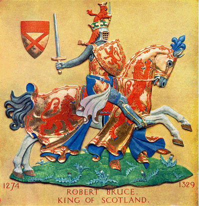Heraldic representation of Robert the Bruce, King of Scotland: Battle of Bannockburn 23rd and 24th June 1314 © The Heraldry Society of Scotland 2004