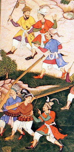 Indian soldiers: Battle of Arni on 3rd December 1751 in the Anglo-French Wars in India (Second Carnatic War)