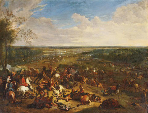 Battle of Malplaquet 11th September 1709 War of the Spanish Succession: picture by Jan van Huchtenburg