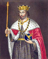 Edward II, King of England, vanquished at the Battle of Bannockburn 23rd and 24th June 1314