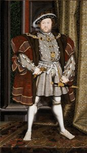 King Henry VIII of England: portrait by Hans Holbein: Battle of Flodden on 9th September 1513