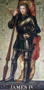 King James IV of Scotland, the commander of the Scottish army at the Battle of Flodden in 1513; his death at the battle, with many of his nobles and soldiers, plunged Scotland into crisis for many years