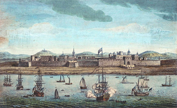 Fort St George in Madras: Siege of Arcot 31st August to 15th November 1751 in the War in India