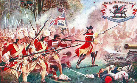 The Buffs at the Battle of Malplaquet 11th September 1709 War of the Spanish Succession