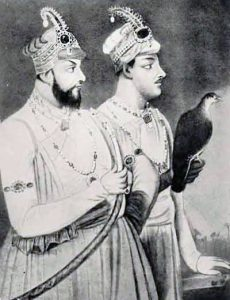 Mir Jafar Khan (left) and his son Mir Miran: Battle of Plassey 23rd June 1757 in the Anglo-French Wars in India
