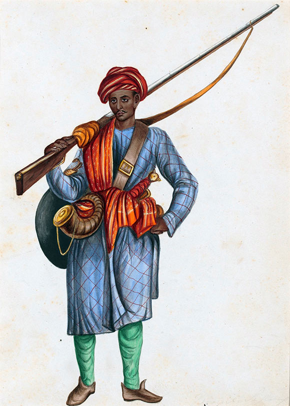 Mughal Infantryman: Battle of Kavripauk on 23rd February 1752 in the Anglo-French Wars in India (Second Carnatic War)