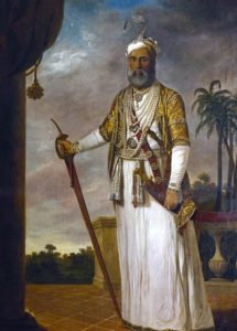 The Nawab of Arcot: Siege of Arcot 31st August to 15th November 1751 in the War in India: picture by Tilly Kettle: click here to buy this picture