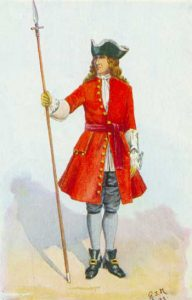 Royal Scots Officer: Battle of Oudenarde 30th June 1708 in the War of the Spanish Succession