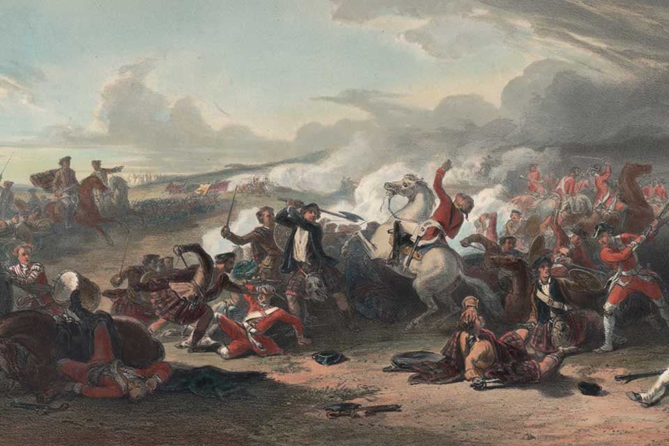Battle of Falkirk 17th January 1746 in the Jacobite Rebellion