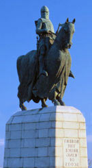 The statue of Robert de Bruce on the battlefield: Battle of Bannockburn 23rd and 24th June 1314 by Pilkington Jackson