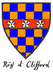 Shield of Sir Robert de Clifford, knight in the English army: Battle of Bannockburn 23rd and 24th June 1314