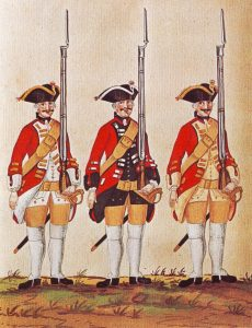 Hanover Regiments-of-Infantry von Zastrow senior, von Zastrow junior and von Sporcken: Battle of Rocoux 30th September 1746 in the War of the Austrian Succession: picture by Karsten