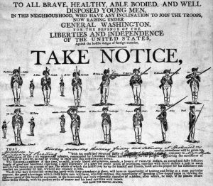 American Continental recruiting poster: American Revolutionary War