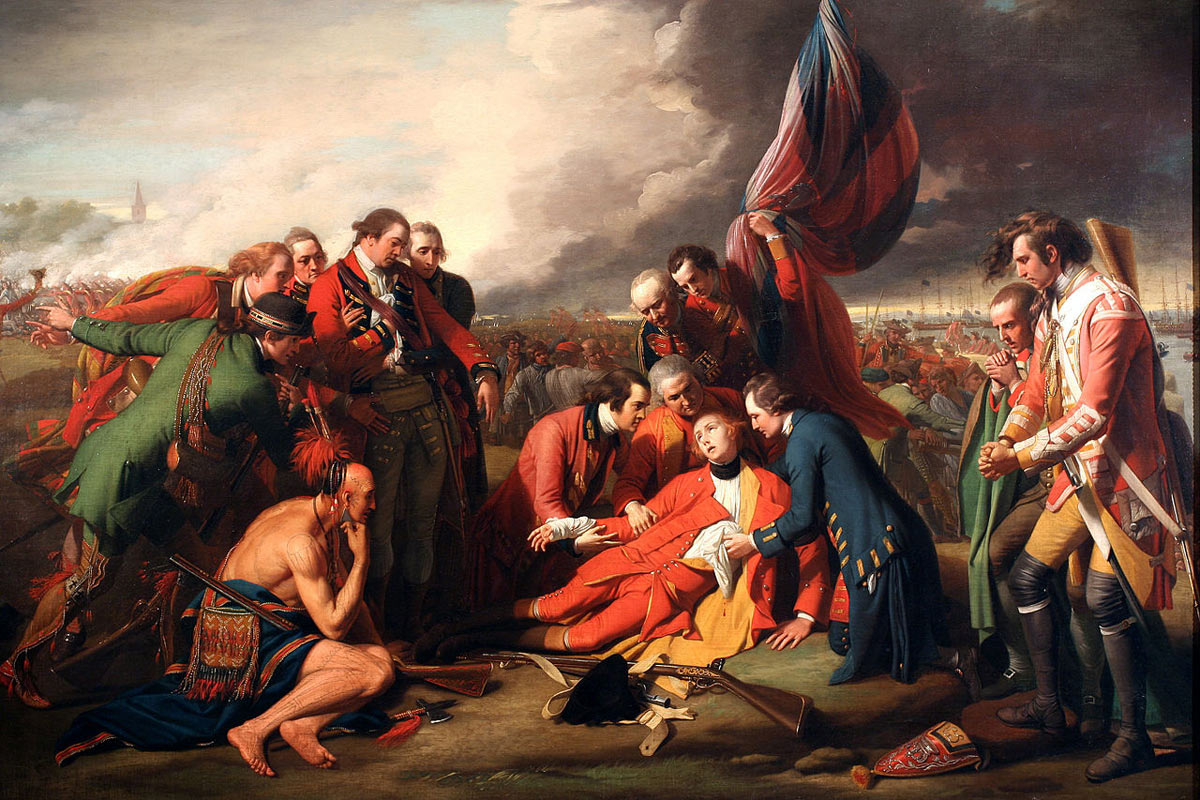 battle of quebec 1759 death of general wolfe at the battle of quebec 13th 1759 in the french and