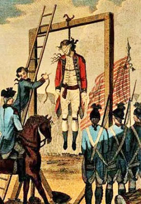 Execution of Major André by the Americans for negotiating the treachery of Benedict Arnold
