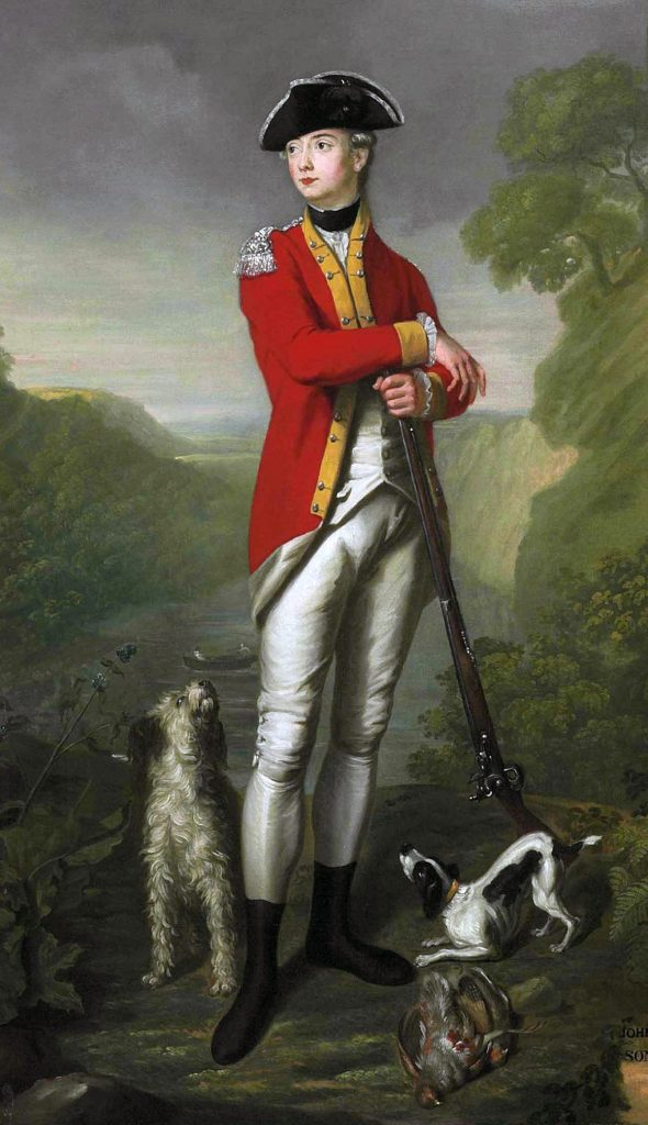 British officer: American Revolutionary War: picture by John Trotter
