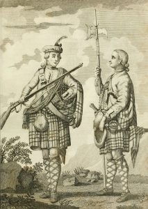 Officer and Sergeant of 42nd Black Watch: Battle of Ticonderoga on 8th July 1758 in the French and Indian War