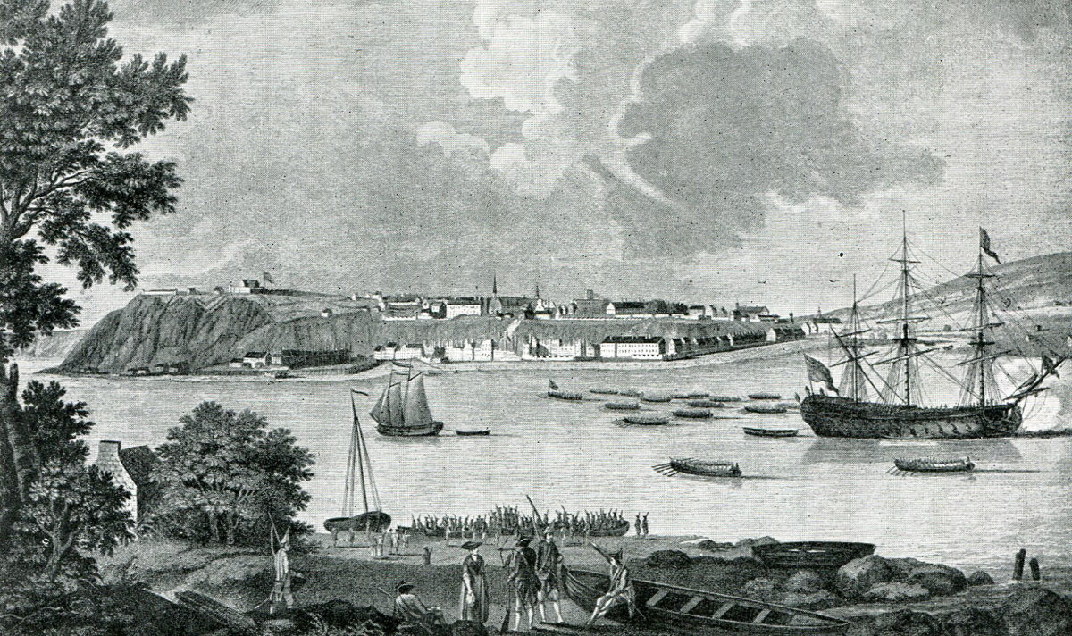 City of Quebec during the battle: Battle of Quebec 13th September 1759 in the French and Indian War or the Seven Years War