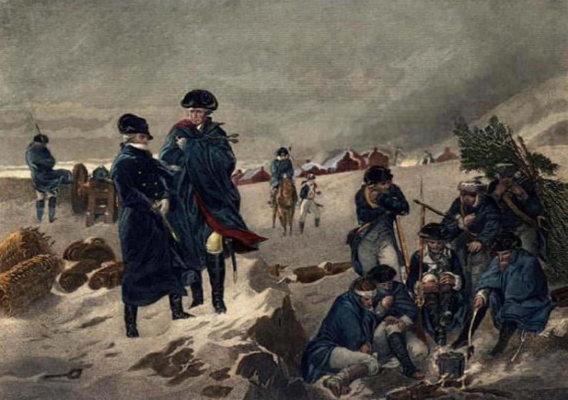 George Washington and the Marquis de Lafayette at Valley Forge: click here to buy this picture