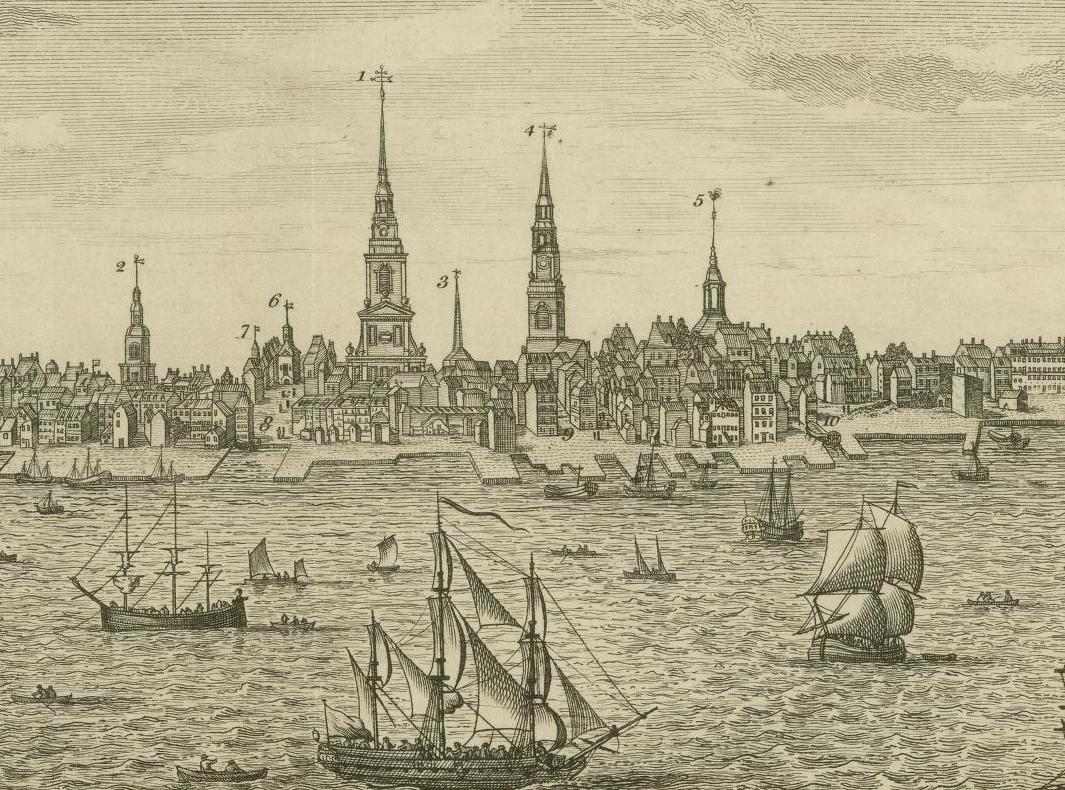 Waterfront of Philadelphia in 1775
